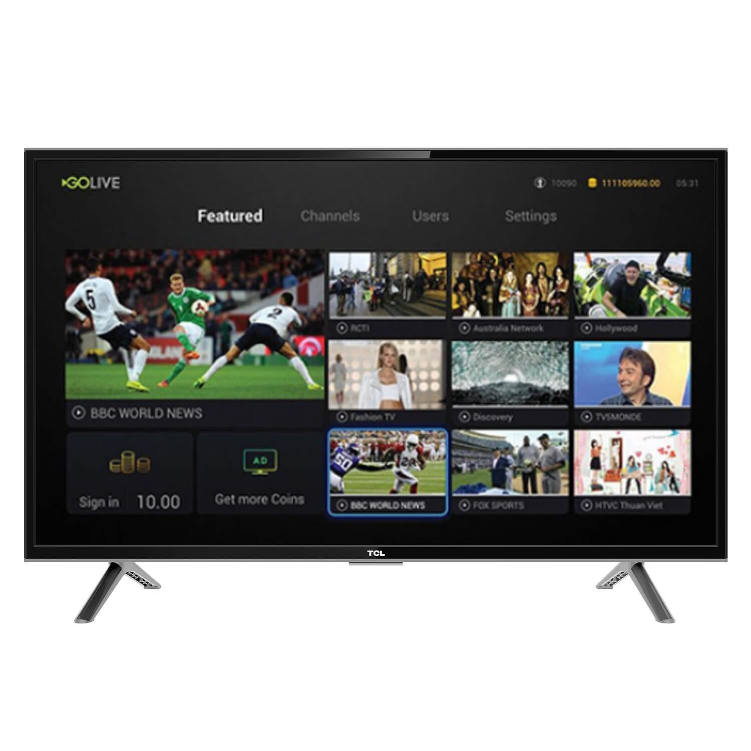 TCL 32 SMART DIGITAL HD LED TV- LED32S4900