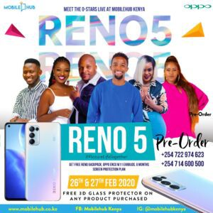 pre order rreno 5 and meet the o-stars live at MobileHUb Kenya