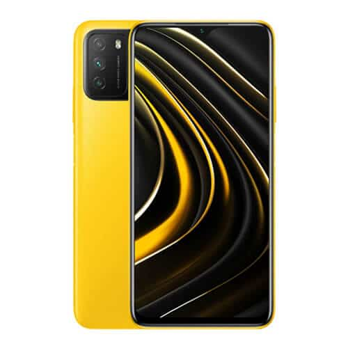 Xiaomi Poco M3 Yellow Front and Back Display